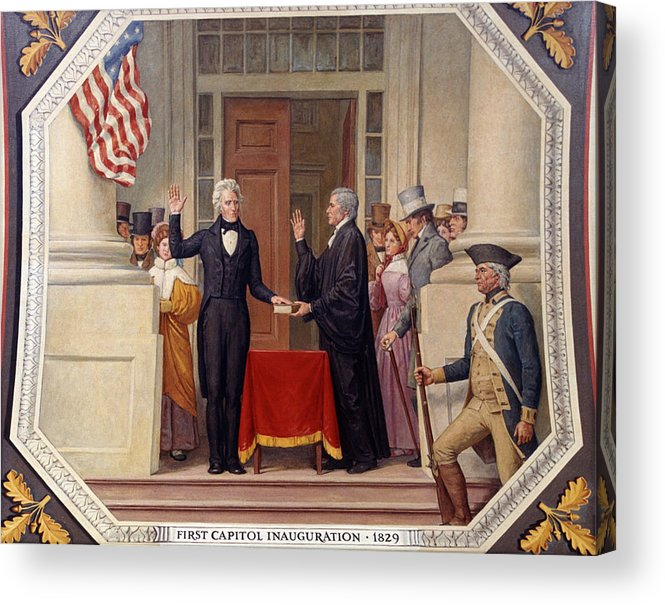 andrew Jackson Acrylic Print featuring the photograph Andrew Jackson At The First Capitol Inauguration - C 1829 by International Images