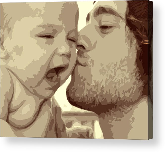 Baby Acrylic Print featuring the photograph Audrey And Troy II by Carolyn Toshach