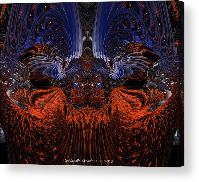 Canvas Acrylic Print featuring the photograph B7 Something From Below Fx by G Adam Orosco