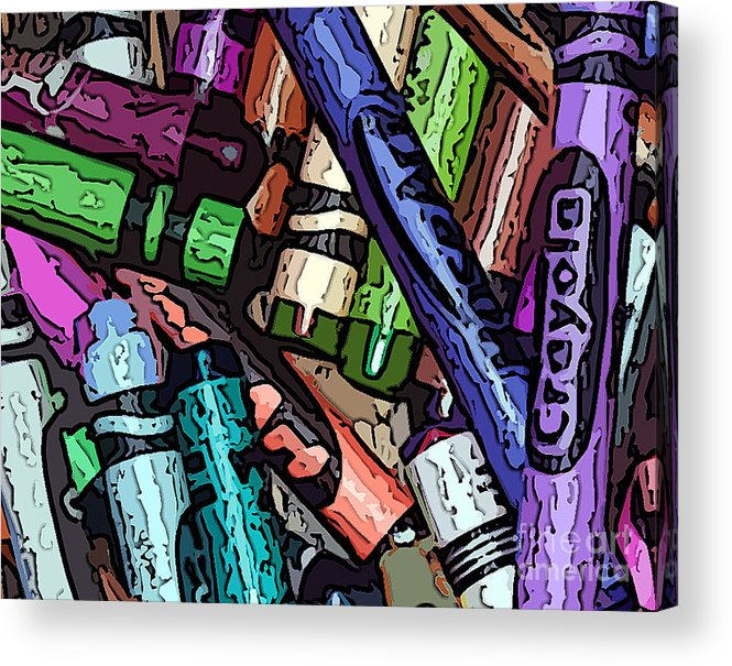 Crayon Photographs Acrylic Print featuring the photograph Crayola 2 by Guy Harnett