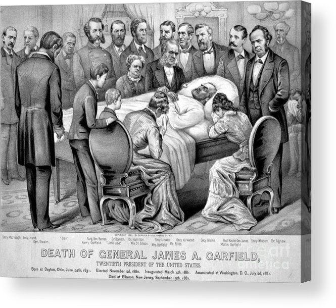 Government Acrylic Print featuring the photograph Death Of Garfield, 1881 by Photo Researchers