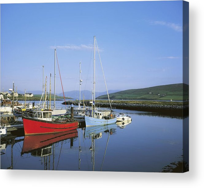 Blue Sky Acrylic Print featuring the photograph Dingle Peninsula, Dingle Harbour by The Irish Image Collection
