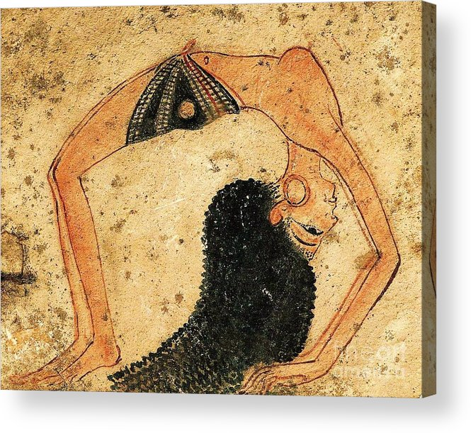 Reproduction Acrylic Print featuring the painting Egyptian Dancer by Roberto Prusso