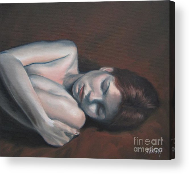 Noewi Acrylic Print featuring the painting Embrace by Jindra Noewi