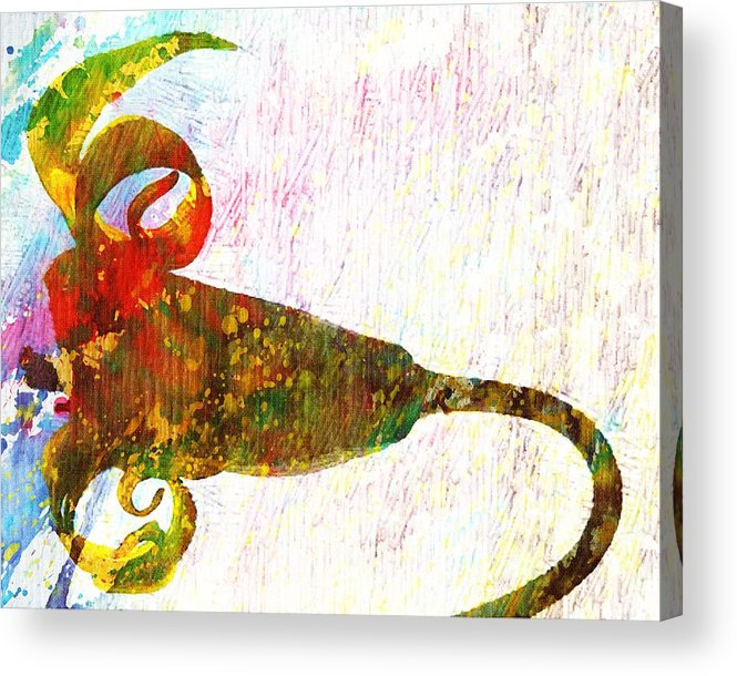 Fantasy Acrylic Print featuring the digital art Fantasy Flower by Andrea Barbieri