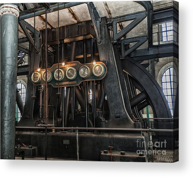 Steampunk Art Acrylic Print featuring the photograph Gauges by Phil Pantano