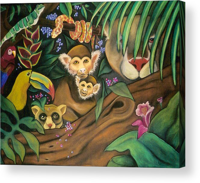 Jungle Acrylic Print featuring the drawing Jungle Fever by Juliana Dube