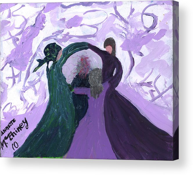 Women Acrylic Print featuring the painting Nicki's Support Circle by Annette McElhiney