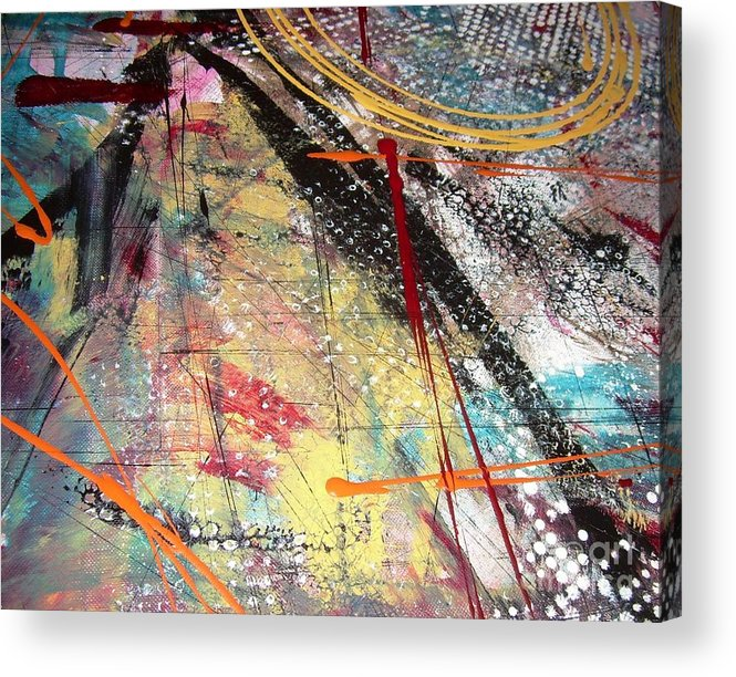 Abstract Acrylic Print featuring the painting Niiovos by Alex Blaha