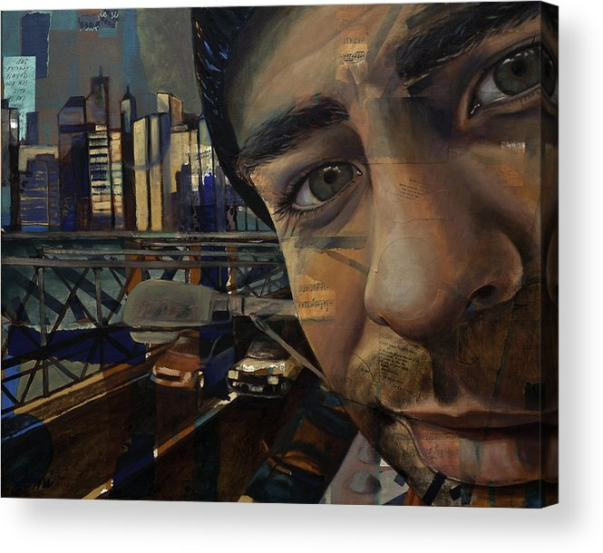 Oil Painting Acrylic Print featuring the painting Ny Tony by Jami Childers