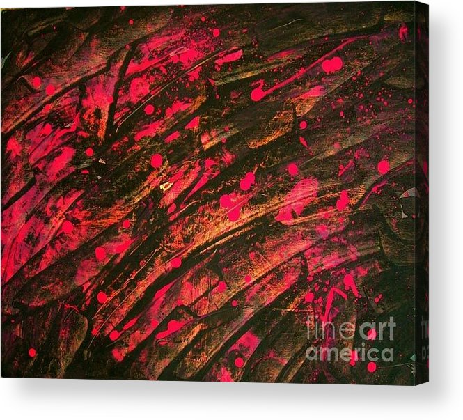 Pink Acrylic Print featuring the painting Pink Storm by Gema Nalen