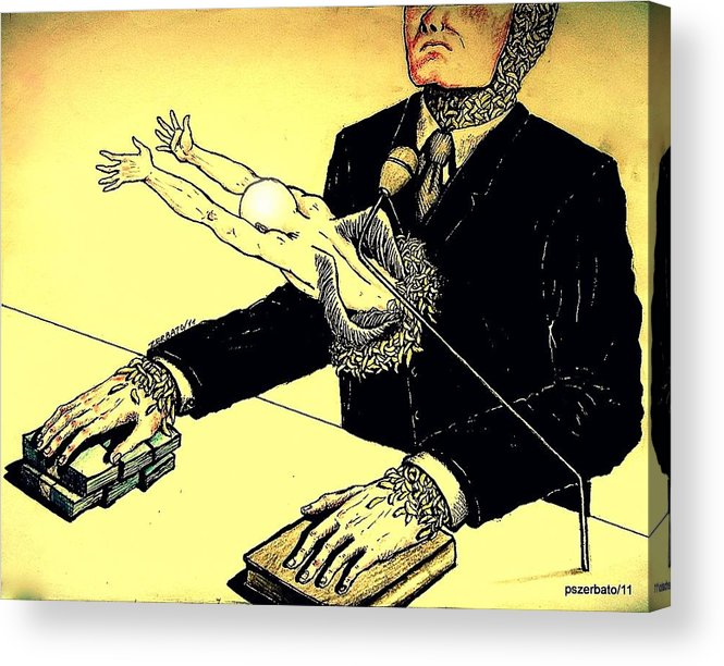 Politics Without Idealism Acrylic Print featuring the digital art Politics Without Idealism by Paulo Zerbato