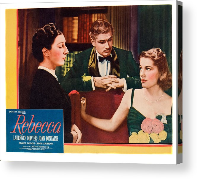 1940 Movies Acrylic Print featuring the photograph Rebecca, From Left Judith Anderson by Everett
