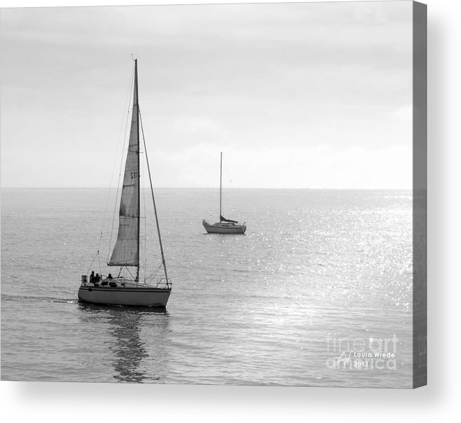Sailing Acrylic Print featuring the photograph Sailing In Calm Waters by Artist and Photographer Laura Wrede