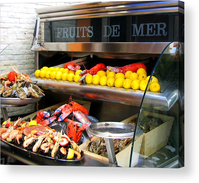 Nice Acrylic Print featuring the photograph Seafood Market In Nice by Carla Parris