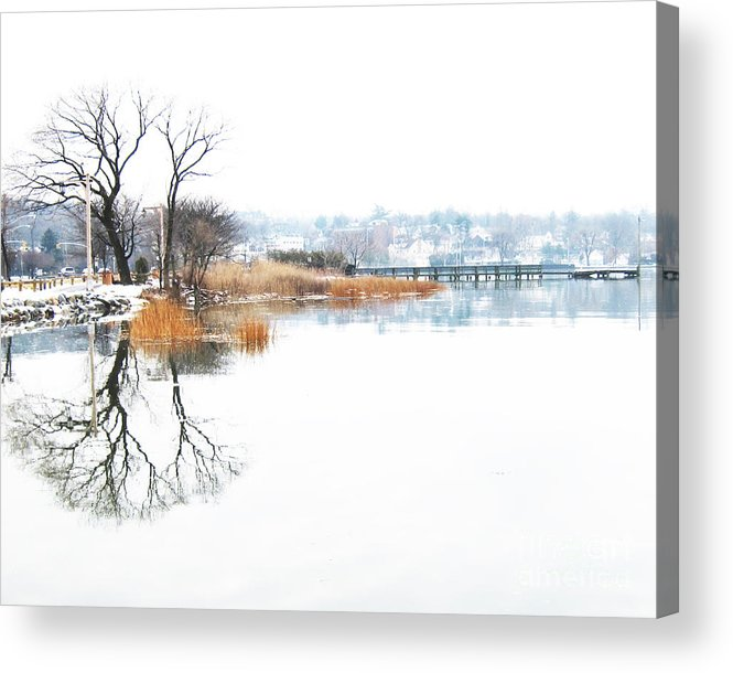 Winter Acrylic Print featuring the photograph Shore Road Port Washington by Robin Ziegelbaum