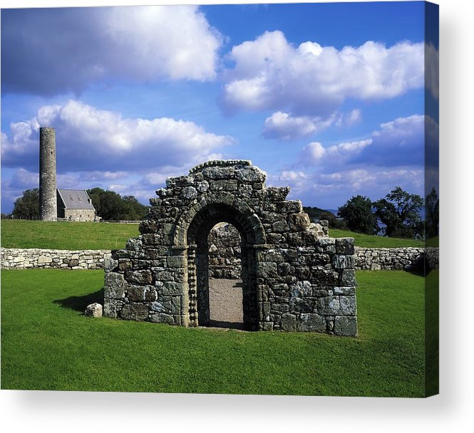 Architectural Heritage Acrylic Print featuring the photograph St Brigids Church, Inis Cealtra Holy by The Irish Image Collection