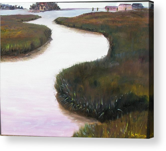 Landscape Acrylic Print featuring the painting Stony Creek by Linda McCarthy