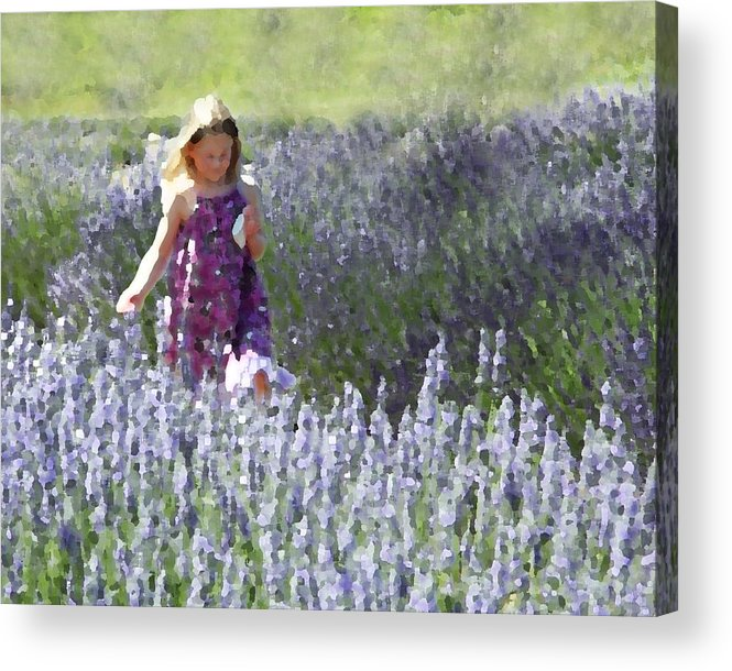 Lavender Acrylic Print featuring the photograph Stroll Through The Lavender by Brooke T Ryan