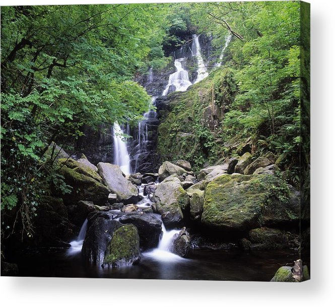 Color Acrylic Print featuring the photograph Torc Waterfall, Killarney, Co Kerry by The Irish Image Collection