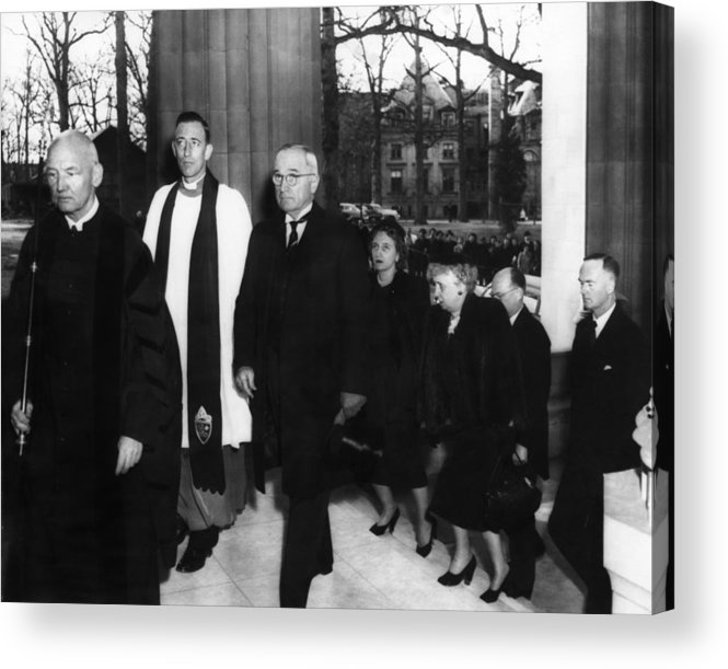 1950s Acrylic Print featuring the photograph Truman Presidency. From Left Cathedral by Everett
