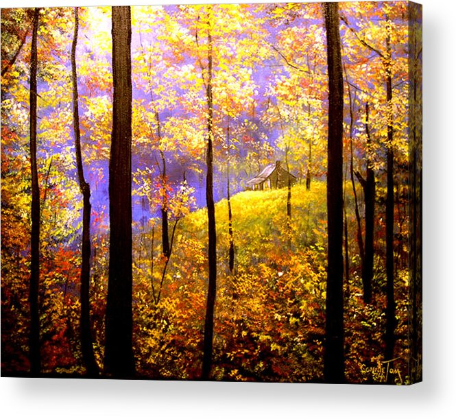A Painting A Day Acrylic Print featuring the painting Autumn Impression by Connie Tom