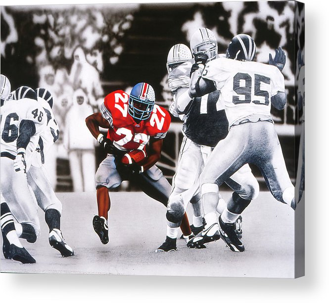 Sprts Acrylic Print featuring the painting Eddie by Brett Cremeens