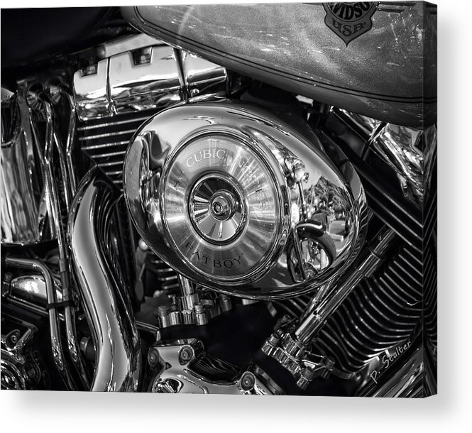 Harley Acrylic Print featuring the photograph Fatboy by Patricia Stalter