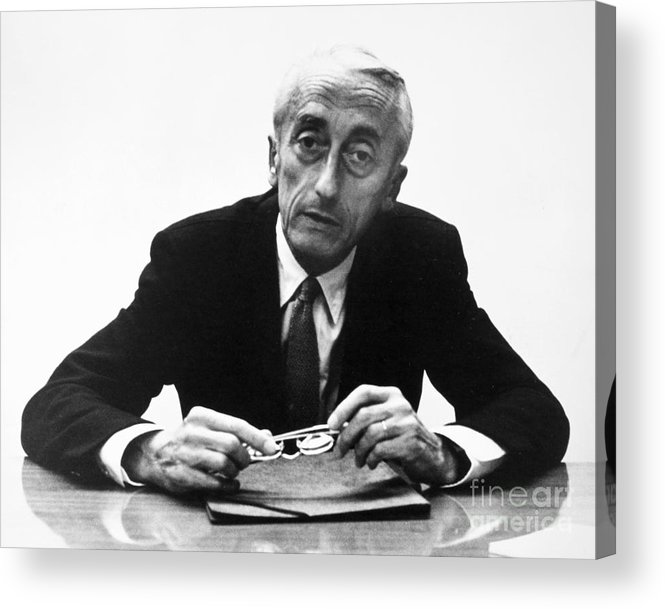 1974 Acrylic Print featuring the painting Jacques Cousteau (1910-1997) by Granger