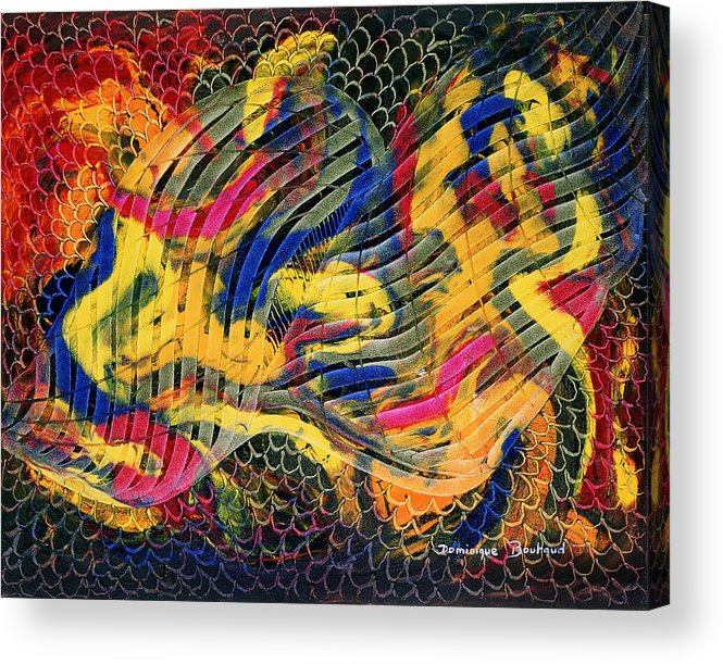 Abstract Acrylic Print featuring the painting Le Filtre De La Pensee by Dominique Boutaud
