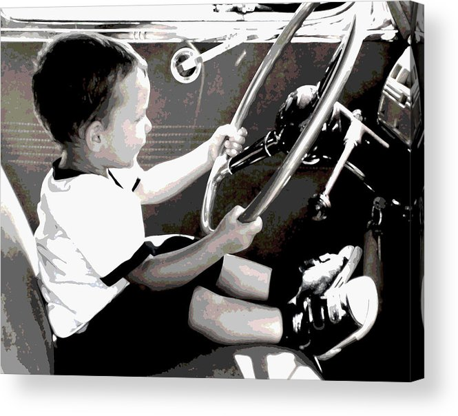 Children Acrylic Print featuring the photograph Children Series by Ginger Geftakys