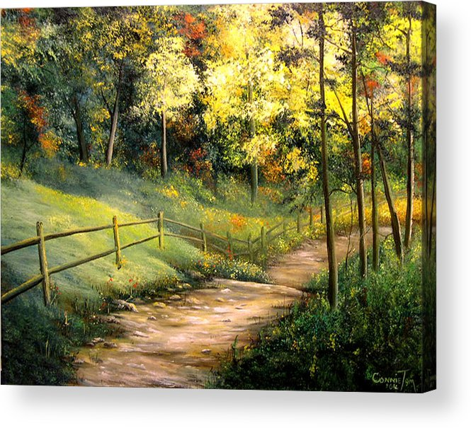 Connie Tom Acrylic Print featuring the painting The Pathway Of Life by Connie Tom