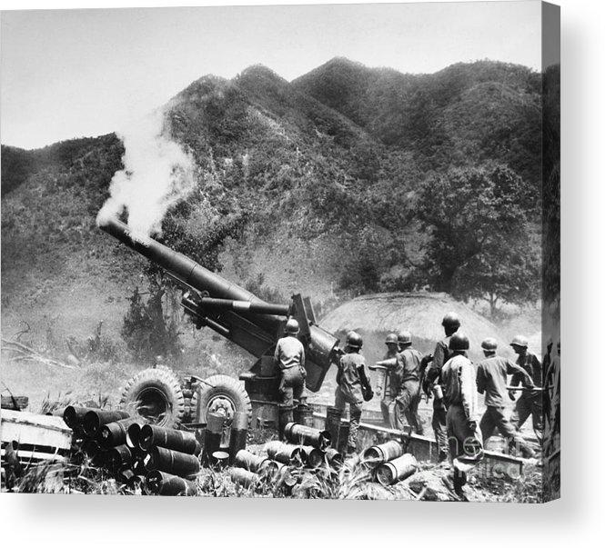 1951 Acrylic Print featuring the photograph Korean War: Artillery by Granger