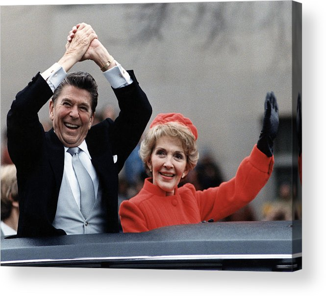 1980s Acrylic Print featuring the photograph President Ronald Reagan And First Lady by Everett