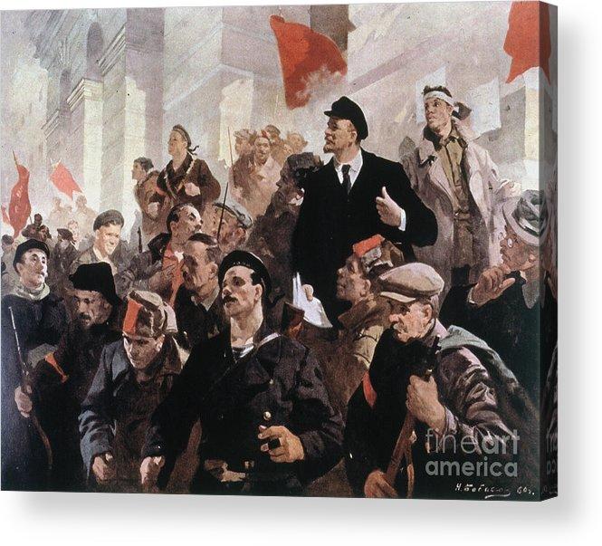1917 Acrylic Print featuring the photograph Vladimir Lenin (1870-1924) by Granger