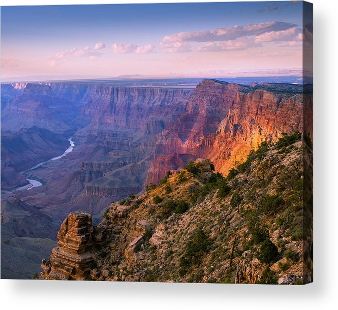 Grand Canyon National Park Acrylic Print featuring the photograph Canyon Glow by Mikes Nature
