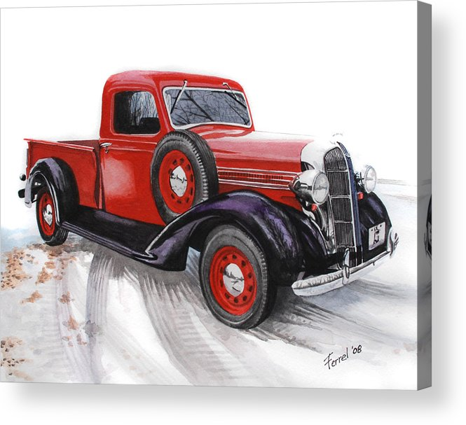 Dodge Acrylic Print featuring the painting 36 Dodge by Ferrel Cordle