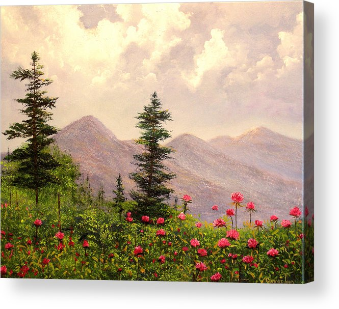 Connie Tom Acrylic Print featuring the painting A Breath Of Fresh Country Air by Connie Tom
