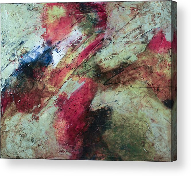 Abstract Acrylic Print featuring the painting A New World by Marie Baehr