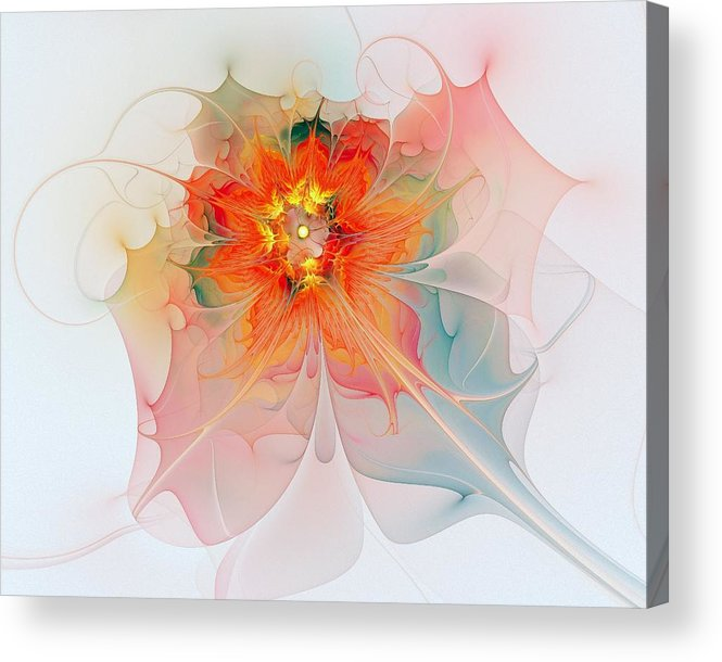 Digital Art Acrylic Print featuring the digital art A Touch Of Spring by Amanda Moore