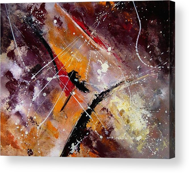 Abstract Acrylic Print featuring the painting Abstract 45 by Pol Ledent