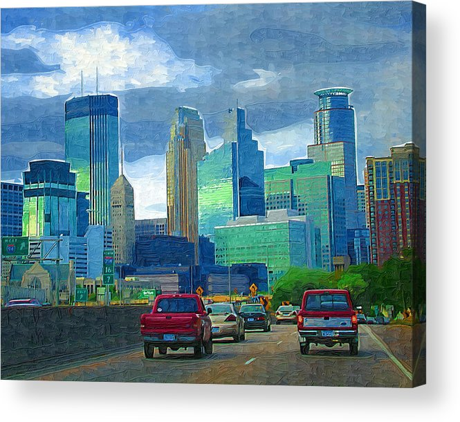 Minneapolis Acrylic Print featuring the photograph All Roads Lead To Minneapolis by Tom Reynen