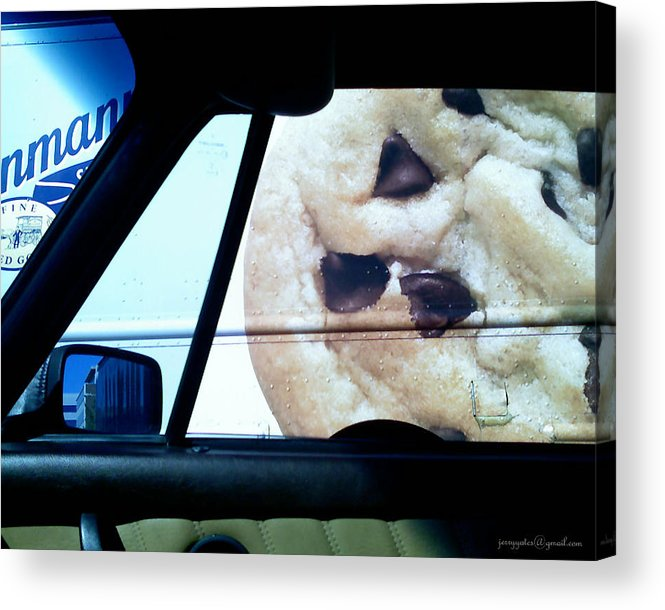 Chocolate Chip Cookie Acrylic Print featuring the photograph Along Side The Cookie Truck by Gerard Yates