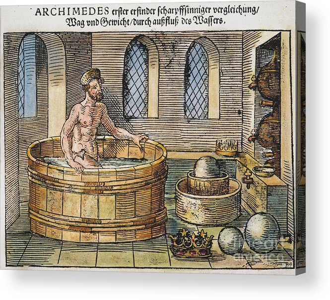 3rd Century B.c. Acrylic Print featuring the photograph Archimedes by Granger