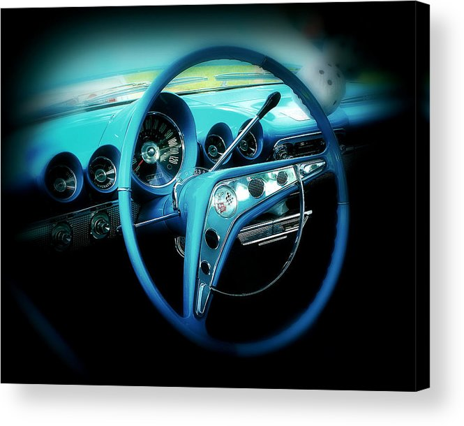 Car Acrylic Print featuring the photograph At The Wheel by Perry Webster