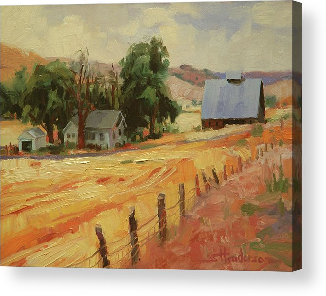 Country Acrylic Print featuring the painting August by Steve Henderson