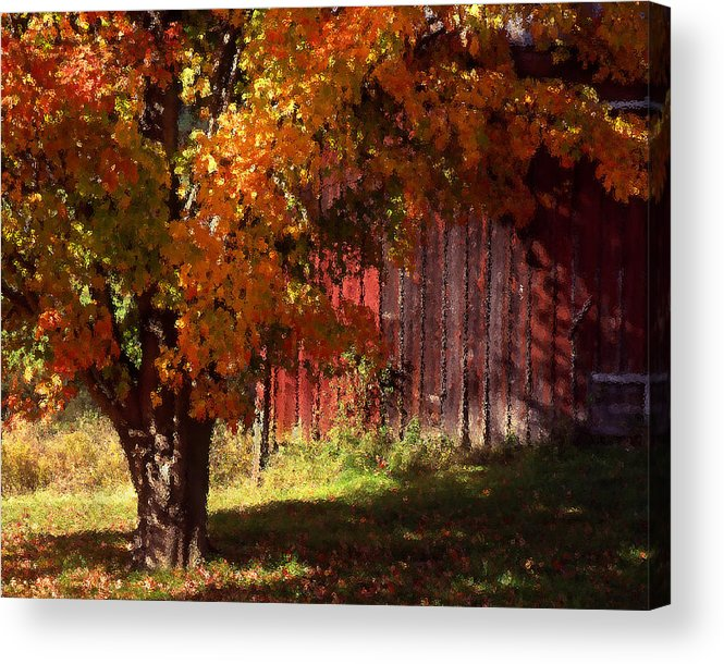 Landscape Acrylic Print featuring the photograph Autumn Barn by Barry Shaffer