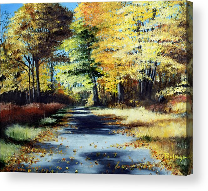 Landscape Acrylic Print featuring the painting Autumn Colors by Paul Walsh