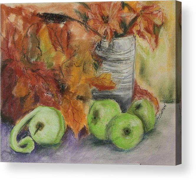 Autumn Colors Acrylic Print featuring the painting Autumn Still Life by Marilyn Barton