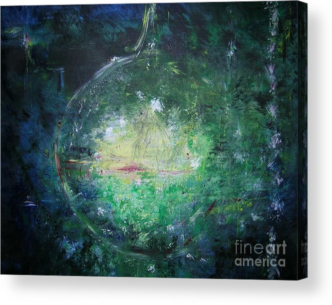 Abstract Acrylic Print featuring the painting Awakening Abstract II by Lizzy Forrester